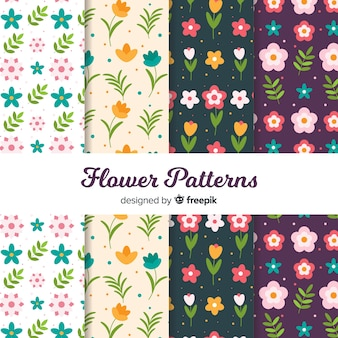 Flat flower pattern set