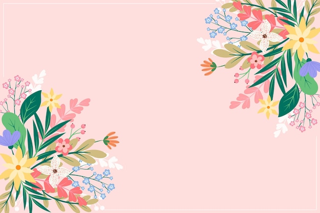 Flat flowers background