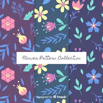 平らな花パターンコレクション