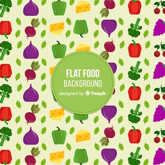 Flat food background