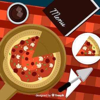 Flat food background