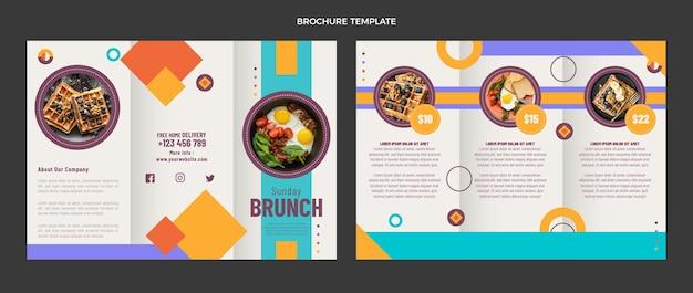 Modello di brochure cibo piatto