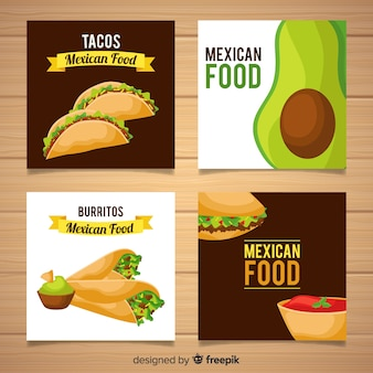 Коллекция плоских продуктов питания