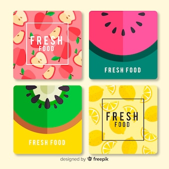 Flat food card collection