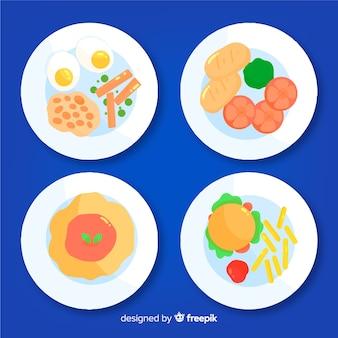 Raccolta piatti piatti