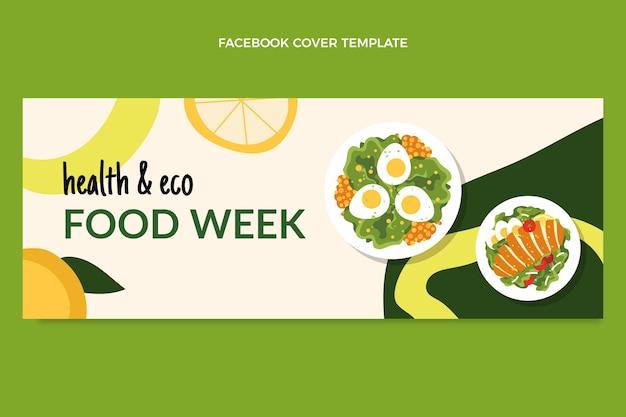 Flat food facebook cover
