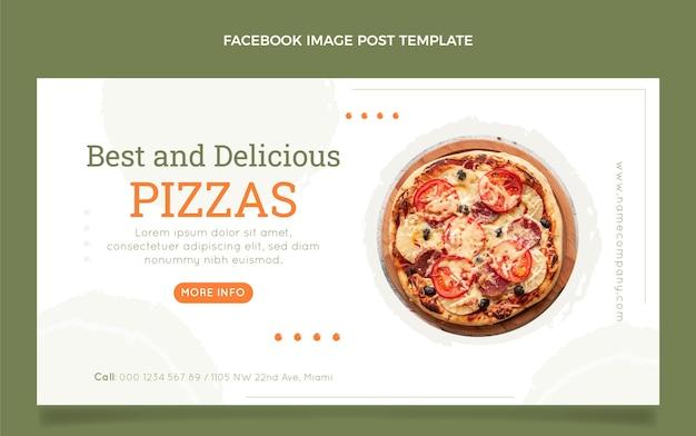 Flat food facebook post template