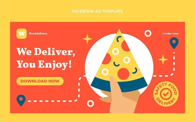 Flat food facebook template