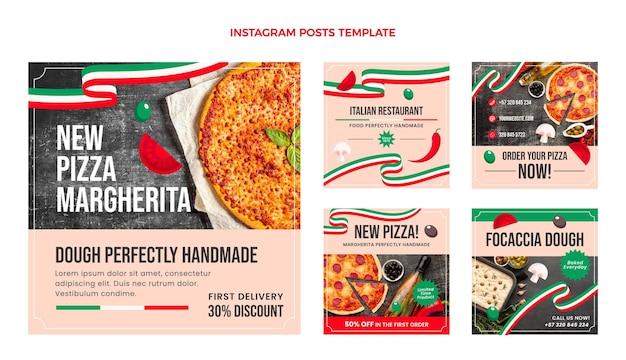 Flat food instagram post template