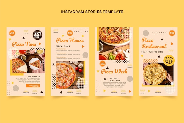 Flat food instagram stories