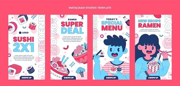 Истории инстаграм плоской еды