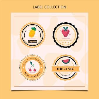플랫 식품 라벨 컬렉션