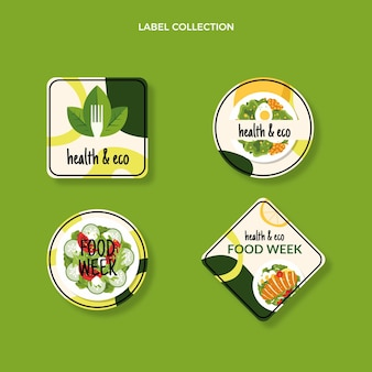 Flat food labels template