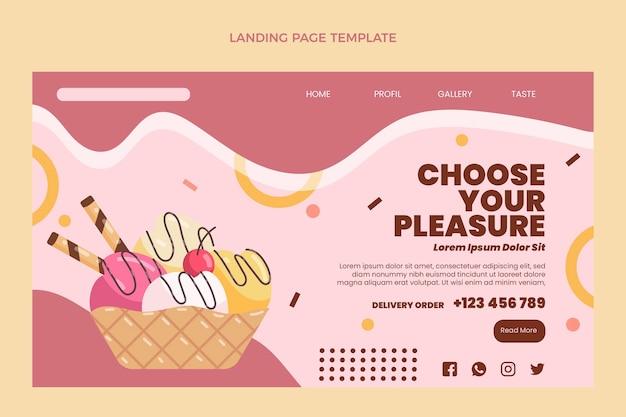 Flat food landing page template