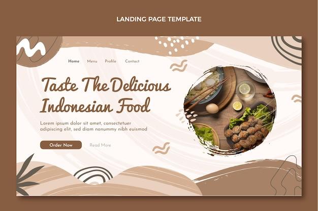 플랫 음식 방문 페이지 템플릿