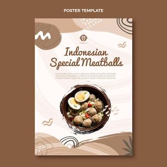Modello di poster di cibo piatto