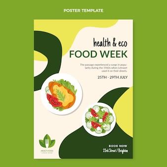 Flat food print template