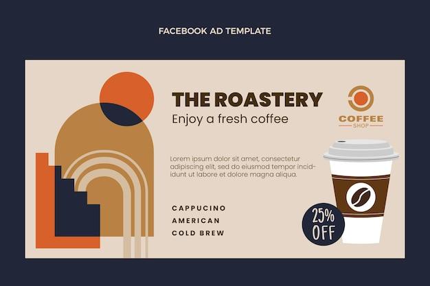 Flat food social media promo template