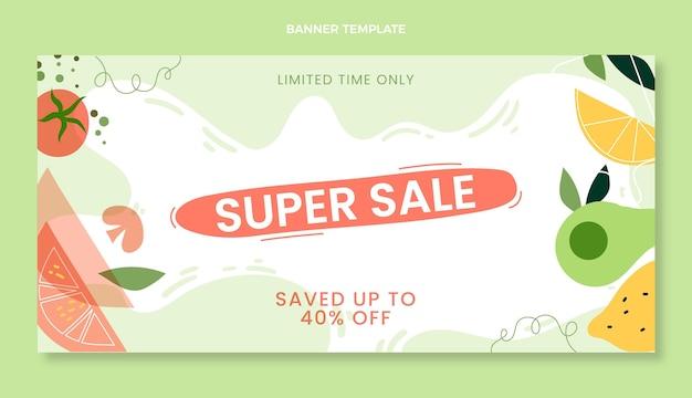 Flat food super sale background