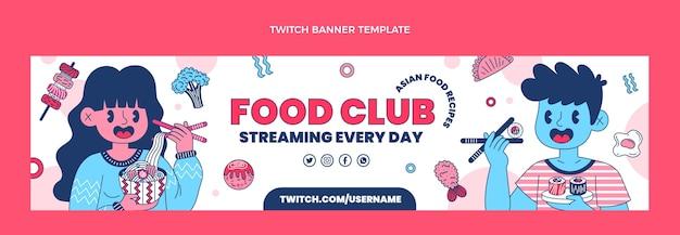 Banner di contrazione del cibo piatto