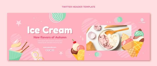 Modello di intestazione twitter cibo piatto