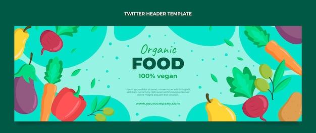 Плоский заголовок в twitter о еде