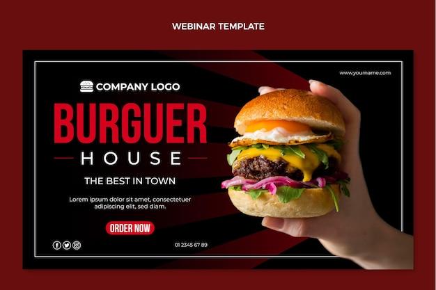 Modello di webinar sul cibo piatto Vettore gratuito