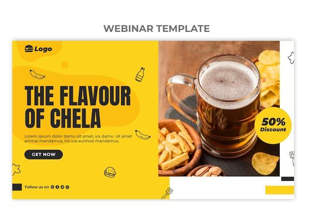 Modello di webinar sul cibo piatto