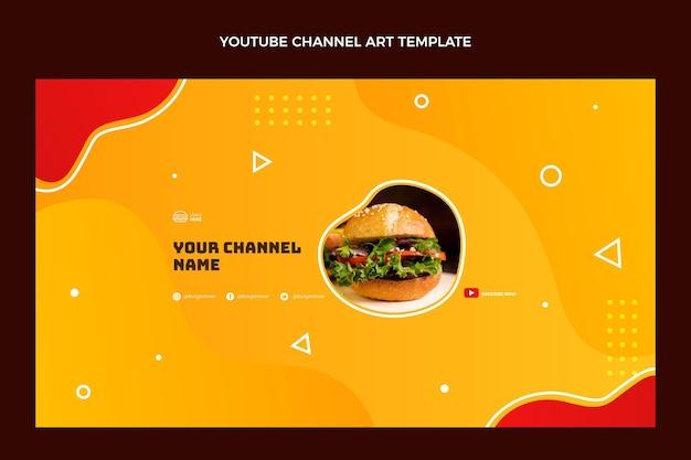 Flat food youtube channel art