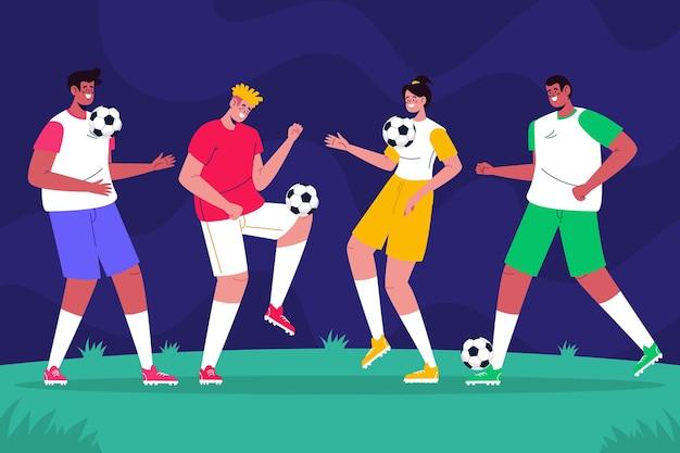 Коллекция плоских футболистов