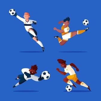 フラットサッカー選手コレクション
