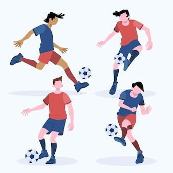 Плоский тренировочный набор футболистов