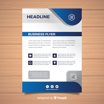 Flat formal business flyer template