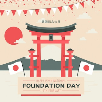 Flat foundation day illustration