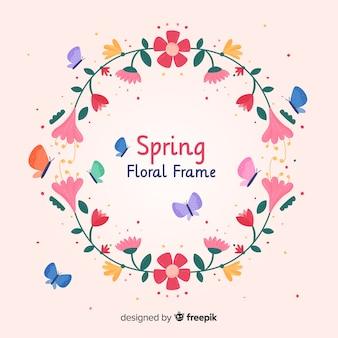 フラットフレーム春の背景