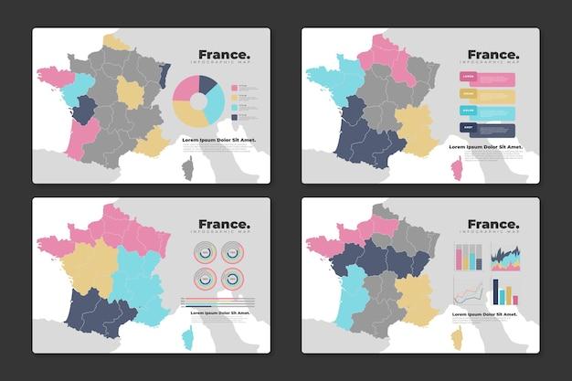 Piatto francia mappa infografica