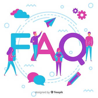 Flat frequently asked questions background