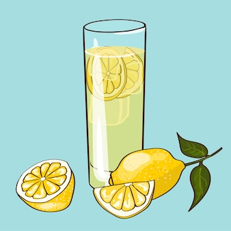 Flat fresh drink concept