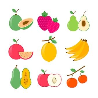 평평한 과일 수집