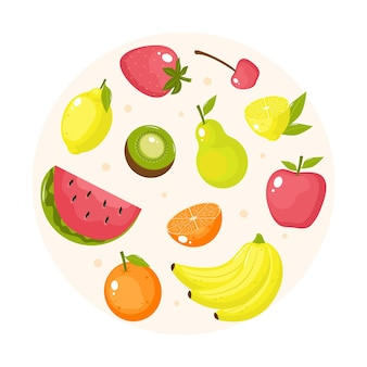 Flat fruit collection