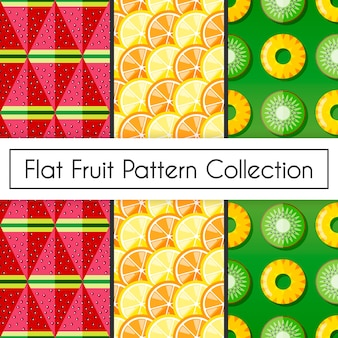 Flat fruit pattern collection