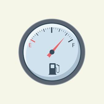 플랫 연료 게이지. 연료 미터 자동차입니다.