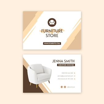 Flat furniture double-sided business card