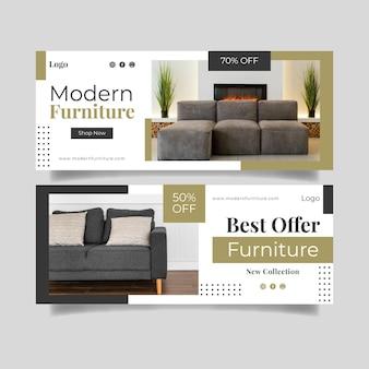 Баннер продажи плоской мебели