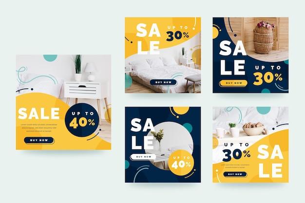 Raccolta di post instagram vendita di mobili piatti