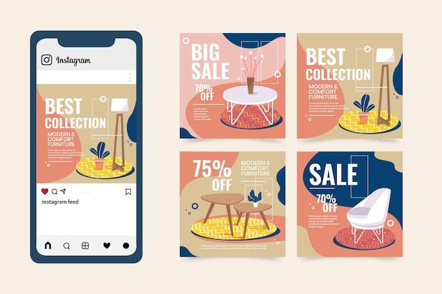 평면 가구 판매 instagram 게시물 수집