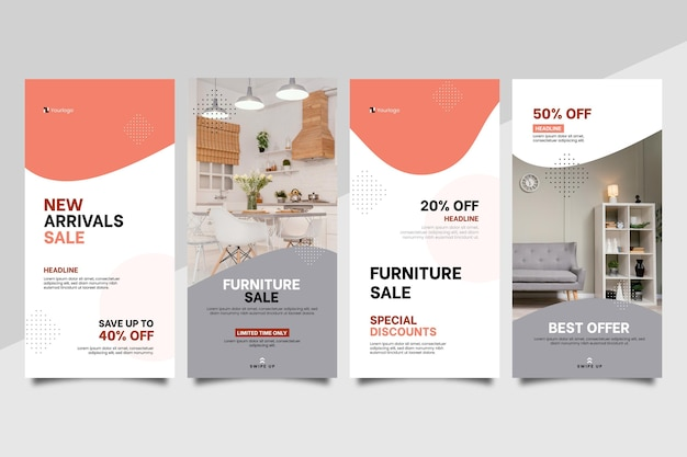 Flat furniture sale instagram story collection