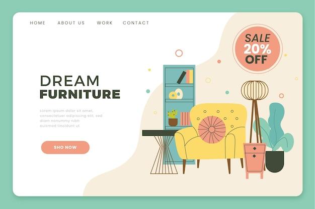 Flat furniture sale landing page template