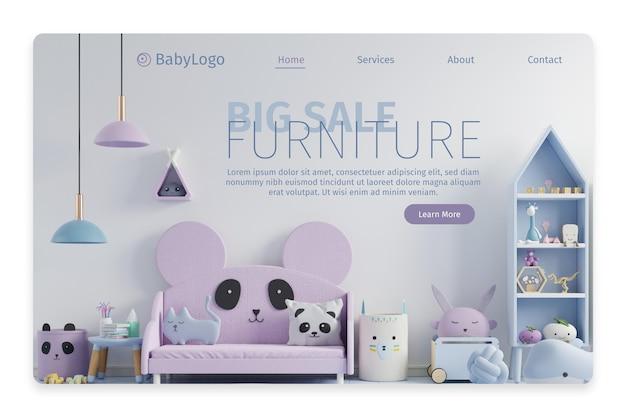 Целевая страница продажи плоской мебели с фото