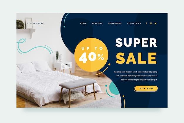 Flat furniture sale landing page